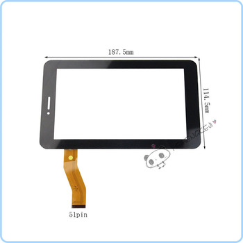 Jauno 7 Collu Touch Screen Digitizer Panelis Telefunken TF-MID708G tablet pc