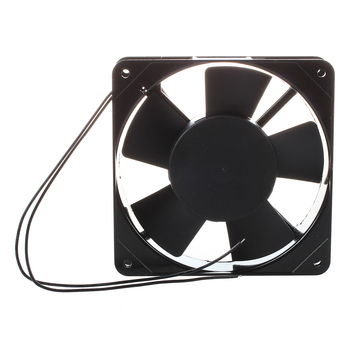 AC 220V-240V 120x120x25 mm Ventilators PC Melns