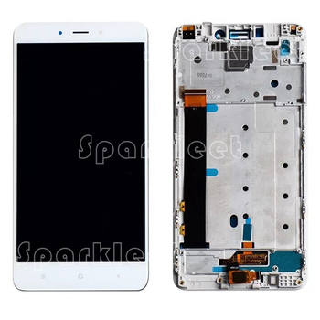 LCD Displejs ar Rāmi +Digitizer Touch Screen Montāža Xiaomi Redmi 4. Piezīme Media Tek Hlio X20
